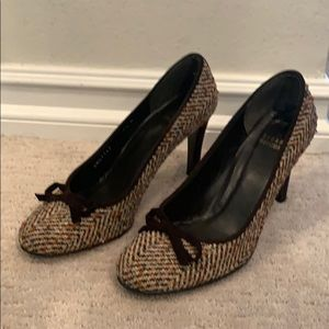 Stuart Weitzman Harris Tweed pumps